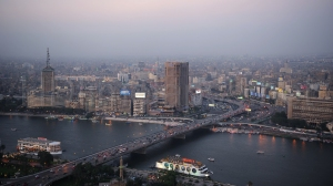 6th October Bridge in Cairo, Egypt.